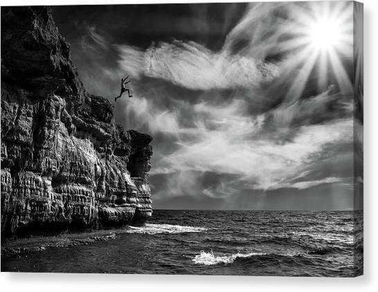 Cliffs Canvas Print - I Believe I Can Fly by Marcel Rebro