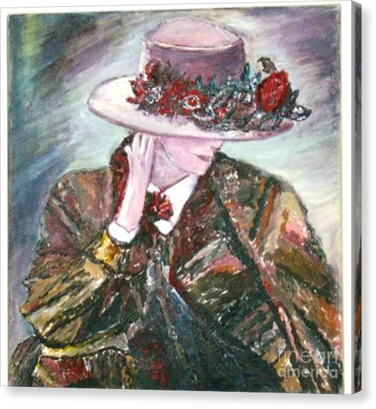 I Borrowed My Mother's Hat Canvas Print