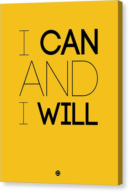 Hips Canvas Print - I Can And I Will Poster 2 by Naxart Studio