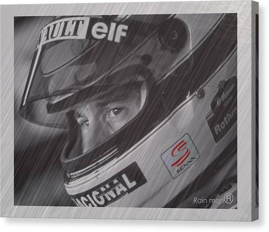 Formula 1 Canvas Print - I Cannot Quit I Have To Go On by Stephane Trahan