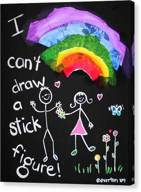 I Can't Draw A Stick Figure Mixed Media Kids Room Painting Canvas Print