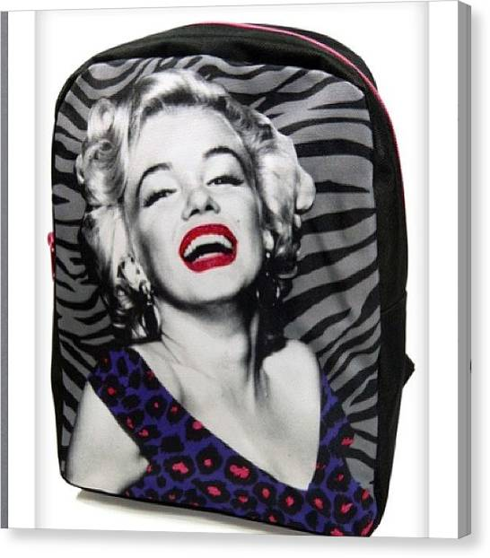 Marilyn Monroe Canvas Print - I Can't Wait To Get This ! by Mauri Tate