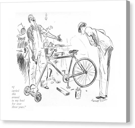 Bicycle Canvas Print - I Carried This Around In My Head For Over Three by Garrett Price