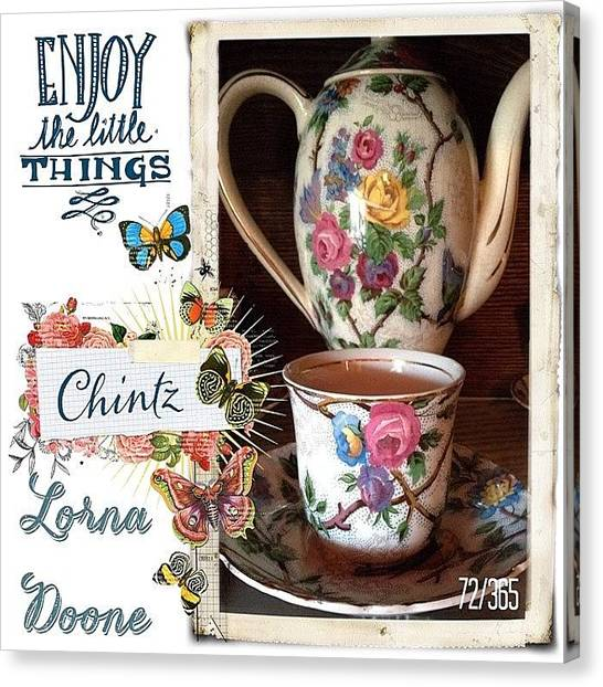 Tea Canvas Print - I Collect Many Things. One Of Those by Teresa Mucha