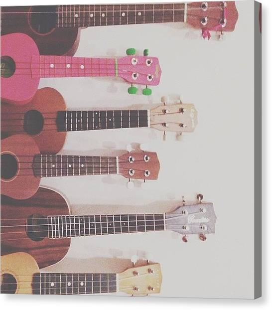 Ukuleles Canvas Print - I Don't Mind Many More Ukuleles In The by Aklili Zack
