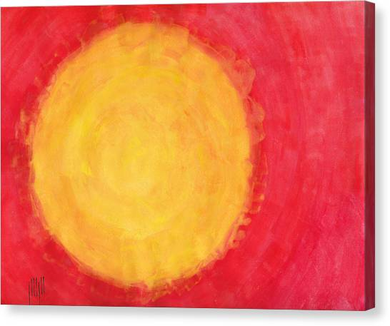 Fire Ball Canvas Print - I Don't Mind The Sun Sometimes by Eric Forster