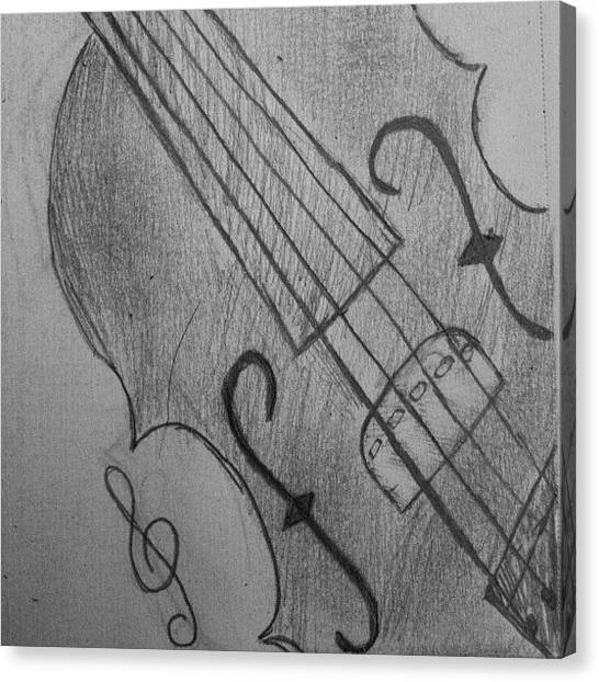 Violins Canvas Print - I Drew Some Of A Violin by Dania Swails