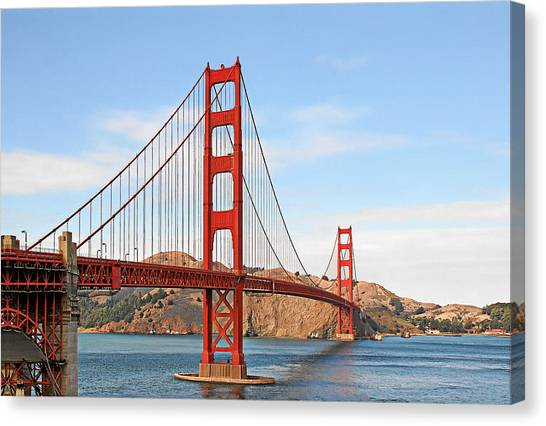 I Guard The California Shore - Golden Gate Bridge San Francisco Ca Canvas Print