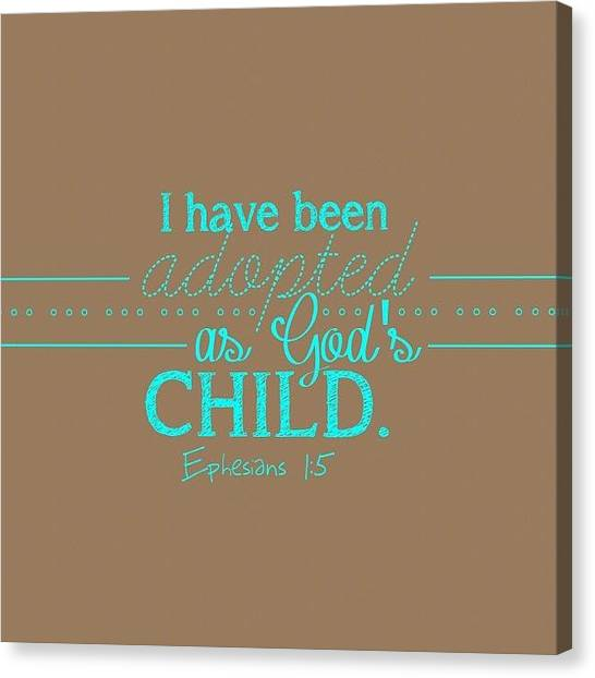 Snakes Canvas Print - I Have Been Adopted As A Child Of God by Traci Beeson