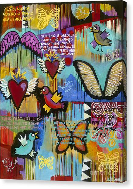 Canvas Print featuring the painting I Have Wings To Fly by Carla Bank