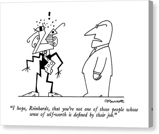 Psychology Canvas Print - I Hope, Reinhardt, That You're Not One Of Those by Charles Barsotti