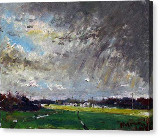 Storms Canvas Print - I Just Beat The Rain by Ylli Haruni