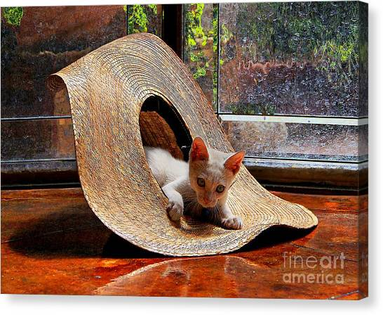 I Just Love My New Hat Canvas Print