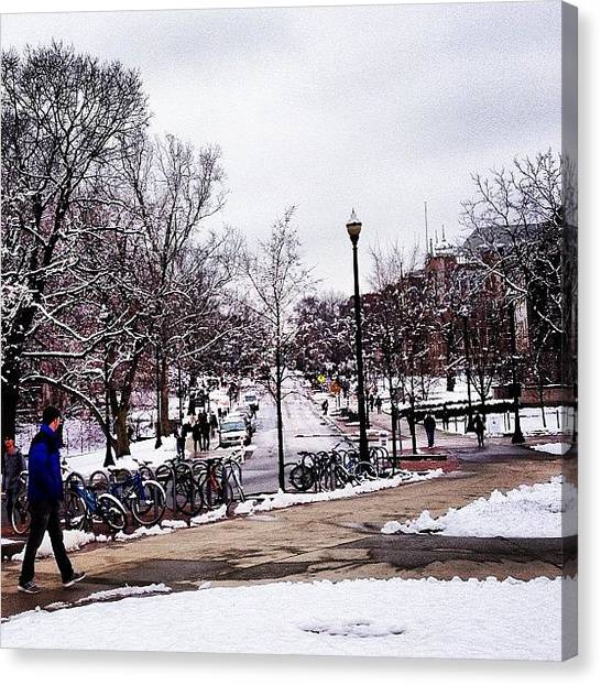 Ohio State University Canvas Print - Winter Wonderland by Brooke Wheeler
