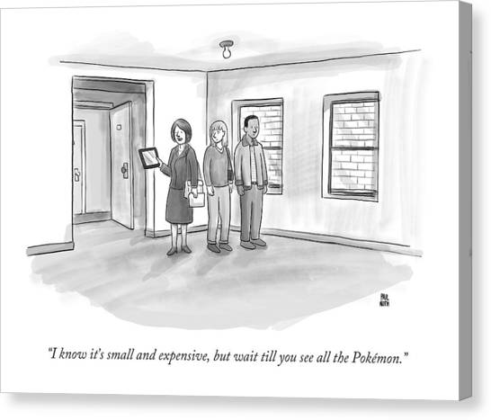 Pokemon Go Canvas Print - I Know It's Small And Expensive by Paul Noth