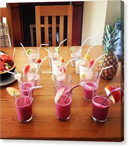 Smoothie Canvas Print - I Leave The Kitchen For 10 Minutes And by Clodagh Mcgrath