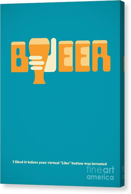 Hand Canvas Print - I Like Beer by Igor Kislev