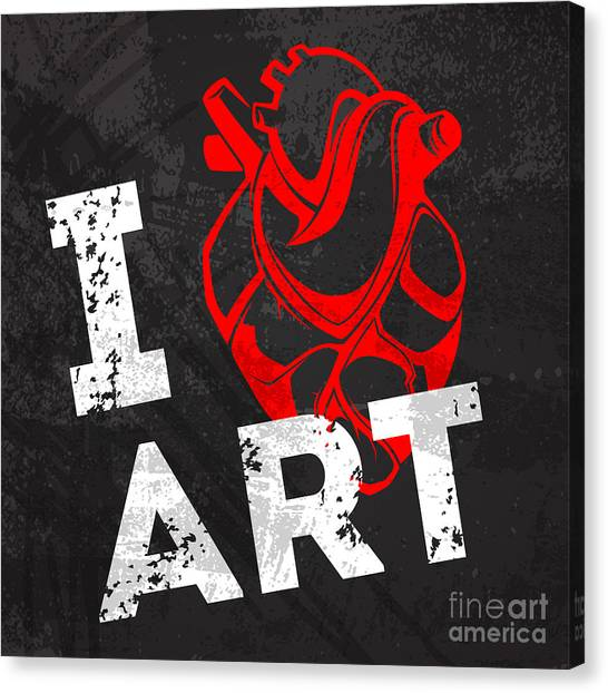 I Love Art Canvas Print by Pevuna