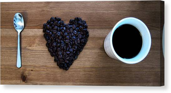 Coffee Canvas Print - I Love Coffee by Nicklas Gustafsson
