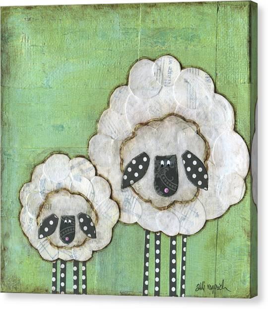 Sheep Canvas Print - I Love Ewe So Much by Alli Rogosich