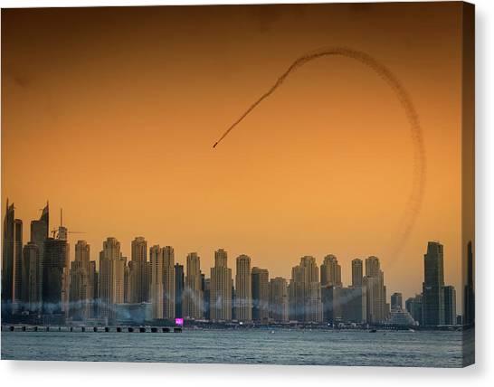 I Love Flying Planes Canvas Print by Attila Szabo