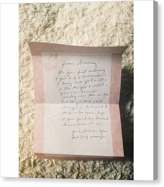Grandma Canvas Print - I Love Getting Handwritten Letters From by Erin Keough Photography