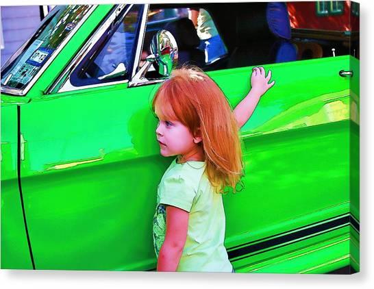 I Love Green Canvas Print