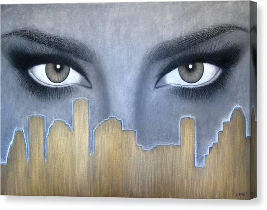 I Love Houston Canvas Print