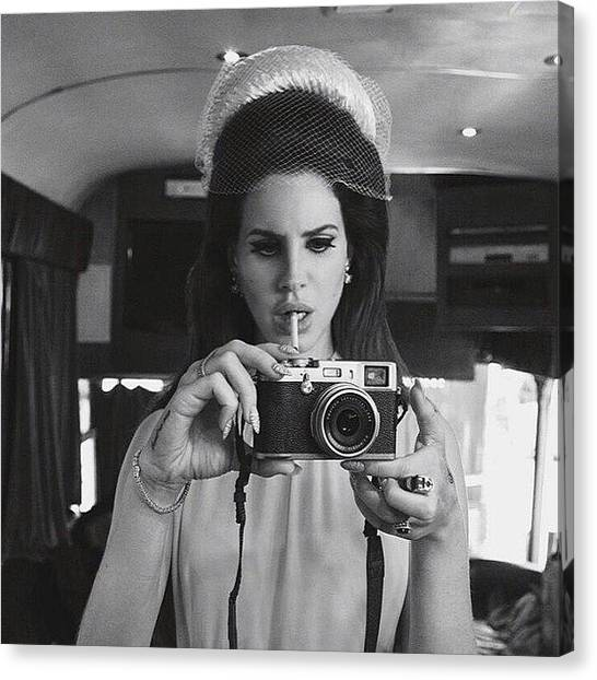 Canvas Print - I Love How She's Vintage #lanadelrey by Tyler McGath