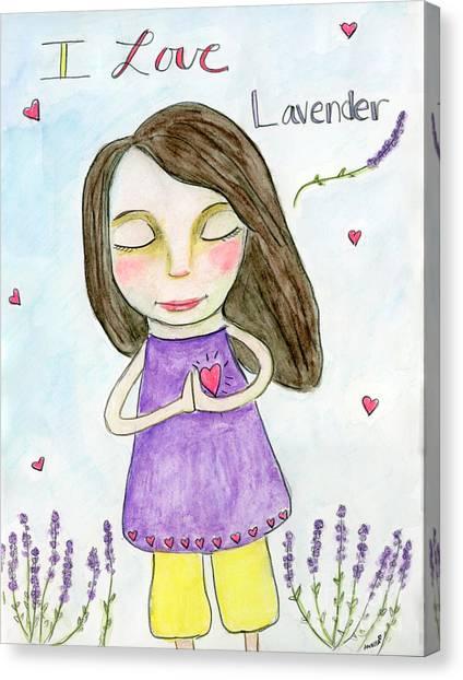 I Love Lavender Canvas Print