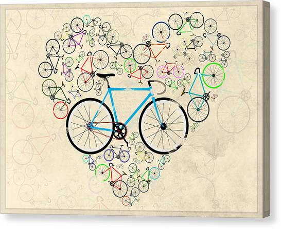 Bicycle Canvas Print - I Love My Bike by Andy Scullion