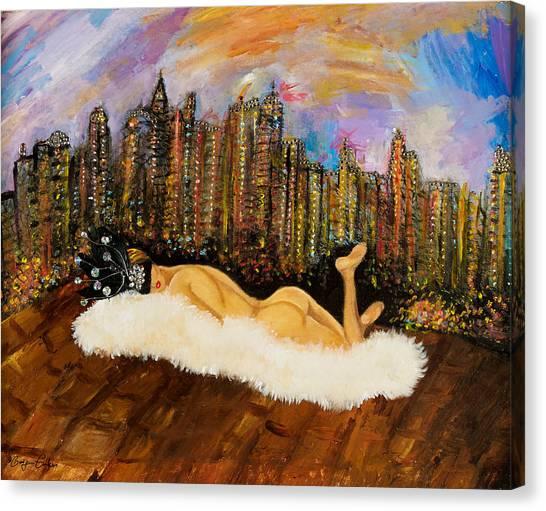 I Love Nyc Canvas Print by Gulgun Turker Fingerhut