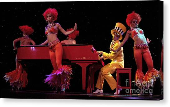 Elton John Canvas Print - I Love Rock And Roll Music by Bob Christopher