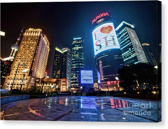 Canvas Print featuring the photograph I Love Sh by Yew Kwang