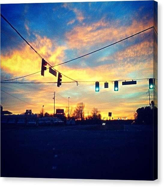 Lucky Canvas Print - I Love That Georgia Sun:  #sun #sunset by Donny Seelhoff