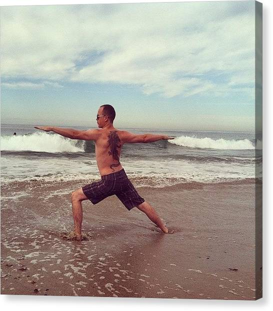Yogi Canvas Print - I Love The Beach And The Sand Between by Jeff Link