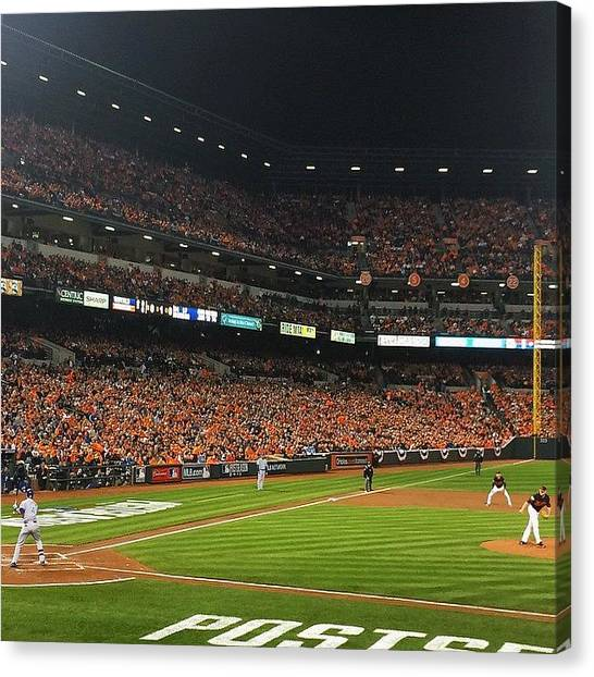 Orioles Canvas Print - I Love This Game. #ibackthebirds by Olivia Witherite