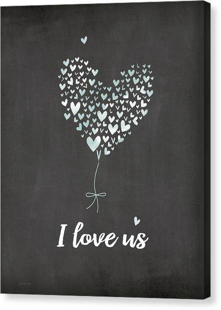 Wedding Day Canvas Print - I Love Us by Jo Moulton