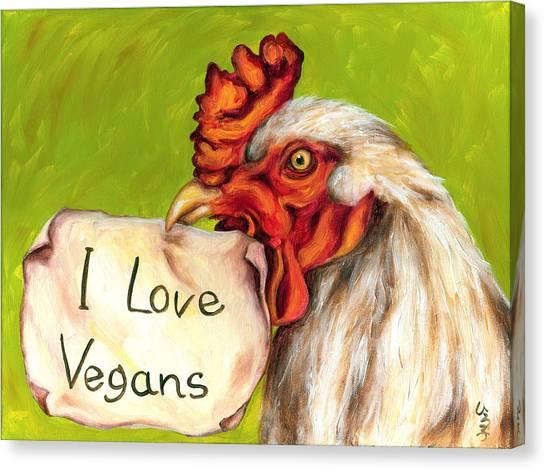 I Love Vegans Canvas Print