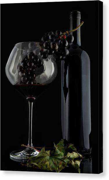 I Love Wine ! V Canvas Print by Alessandro Fabiano