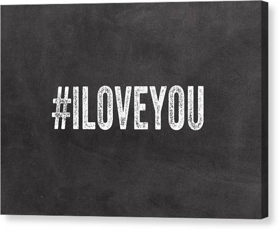 Wedding Canvas Print - I Love You - Greeting Card by Linda Woods
