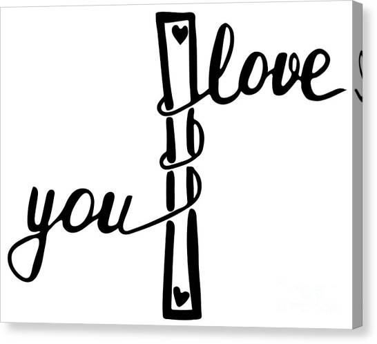 Concept Canvas Print - I Love You . Inspirational And by Marina Kutukova