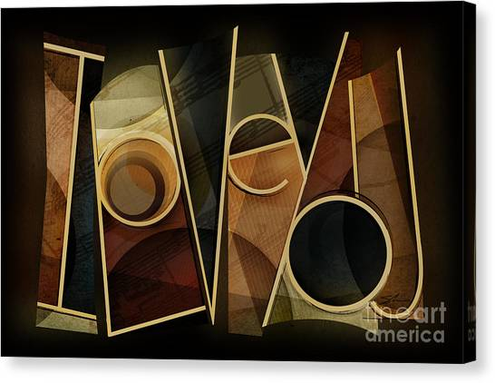 I Love You - Abstract  Canvas Print by Shevon Johnson