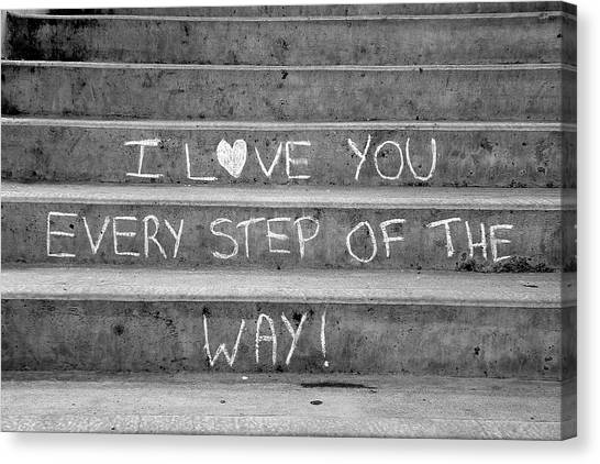 I Love You Every Step Of The Way Canvas Print