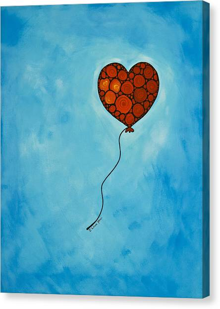 Heart Canvas Print - I Love You by Sharon Cummings