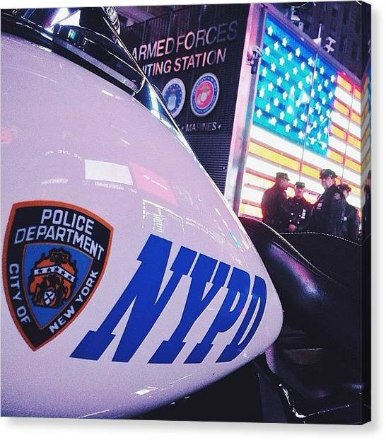 Law Enforcement Canvas Print - I Made The Nypd A Little Curious Making by Mark Graziano
