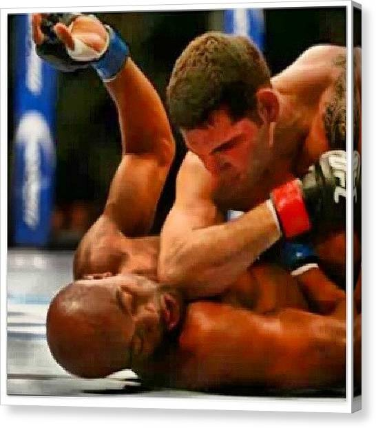 Knockout Canvas Print - I Missed It Again. Silva Got Knocked by Brandon Fisher