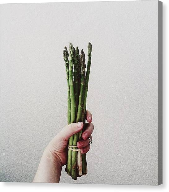 Asparagus Canvas Print - I Need To Eat More Veggies by Courtney Jines