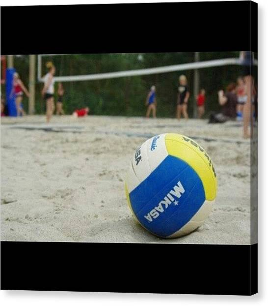 Volleyball Canvas Print - I Need To Feel The Sand Between My by Manon Duhaime