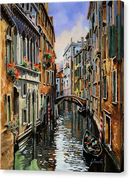 Dock Canvas Print - I Pali Rossi by Guido Borelli